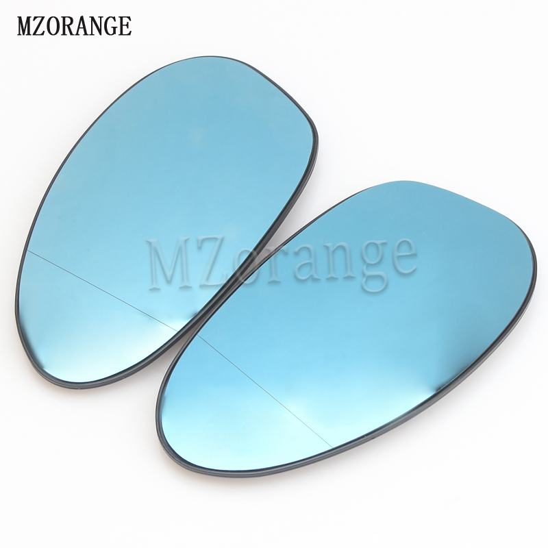MZORANGE 1 Pair Blue Side Wing Mirror Glass Heat For BMW E90 E92 E91 E93 E82 E88 E86 E85 Z4 320i 328i 335i 330i 323i 135i 138i