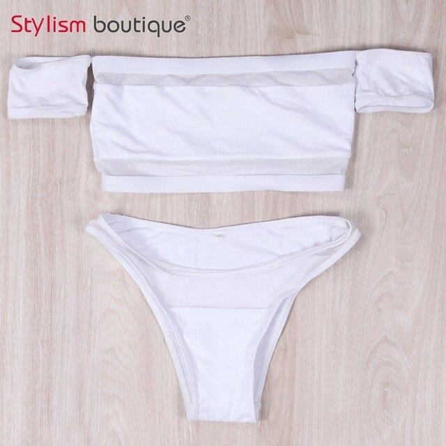 Hot Off Shoulder Bikini Set 4