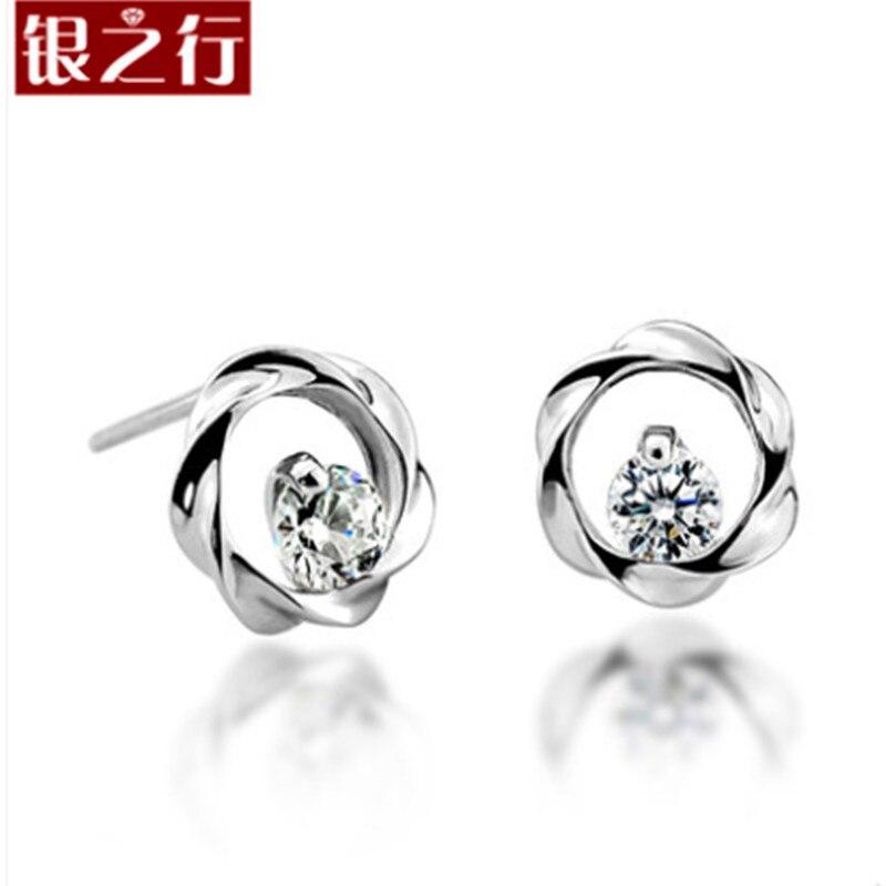 Zhan Mei Baxin oito seta oito coração genuíno coreano 925 Tremella prego  jóias de prata feminina brincos 9290f140cd