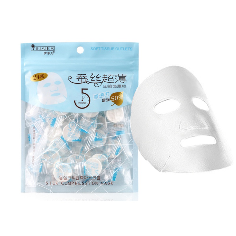 24Pcs/Lot Compression Mask Paper Skin Care DIY Pad Disposable Nonwoven Fabric Mask Paper Face Skin Clean Paper Cleaner