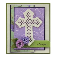 5 PCS Christian Devout Cross Metal Cutting Dies Stencils For DIY Scrapbooking/Photo Album Decorative Embossing Paper Cards
