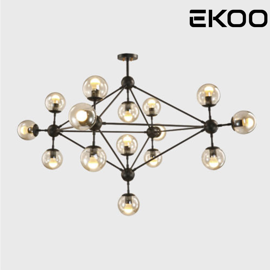 Luminaire Suspension Vintage Ekoo Retro Vintage Industrial Bean Suspension Luminaire Pendant