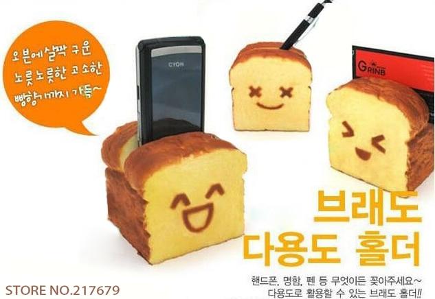 Squishy Roti : (15PCS) kawaii squishy Roti Toast squishy phone holder / card holder /pen holder free shipping ...