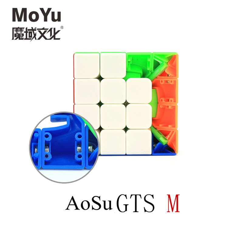 Moyu Magic Cube AoSu gts M 4x4x4 Magic Cubes aosu gts magnetic Professional competition Cubes Educational Kids Toys Magico Cubo диспенсер для туалетной бумаги vialli размер 31 см