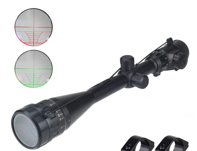 1pc 6-24X50 Riflescope Adjustable Green Red Dot Hunting Light Tactical Scope Reticle Optical Sight Scope with 20mm or 11mm rails green light окислитель 20 vol 6