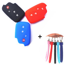 WFMJ Silicone Skin 4 Buttons Smart Key Cover Case Holder for Lexus GS430 GS300 IS350 IS250 LS460 GS450h GS350 ES350 LS600h