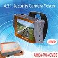 4.3 pulgadas TFT LCD Función de Prueba De Cable de Red de Tres en Uno 1080 p 2mp tvi ahd analógico vigilancia cctv cámara del probador del envío libre