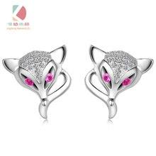 Lingdong  Fashion brand 925 silver ear stud little fox series fashion earring creative gift free shipping