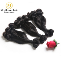 3pcs Aunty Funmi hair Duchess curl Double drawn natural black can be dye 8 18 Remy human hair weaves popular in UK/ Nigeria