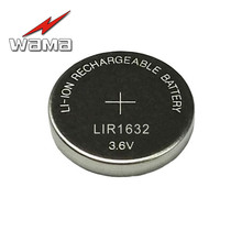 10pcs/lot LIR1632 Rechargeable Button Cell Coin Batteries 3.6V Lithium over 500 times Replace CR1632 LM1632 BR1632 ECR1632 DL1 10pcs original cr1 3n 2l76 k58l dl1 3n 5018lc cr11108 3v lithium battery