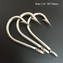 CN03 1/0 50 pieces Mustad Fishing Hook Stainless Steel Fishing Hook J Type Barbed Fishing Hook Big Hook For Fishing