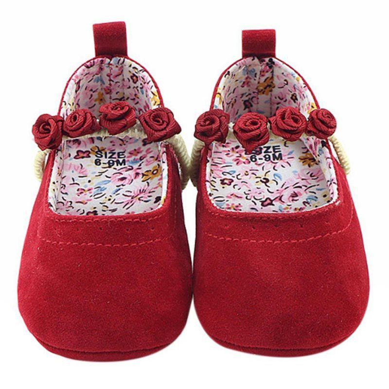 Weixinbuy осень-зима одежда для малышей Gril Обувь бант принцессы одноцветное мягкая подошва Обувь для малышей Обувь для младенцев Спортивная обу...