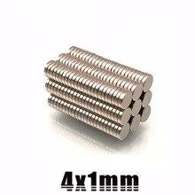 100/200/500/1000 шт 4 мм х 1 мм Маленькие Круглые неодимовые магниты 4x1 Dia N35 сильная редкоземельных супер мощный магнит 4*1