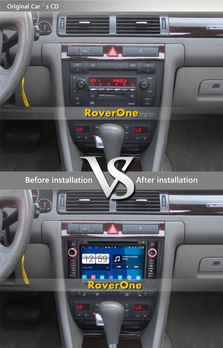 Roverone Android 80 Car Multimedia System For Audi A6 C5 S6 Rs6