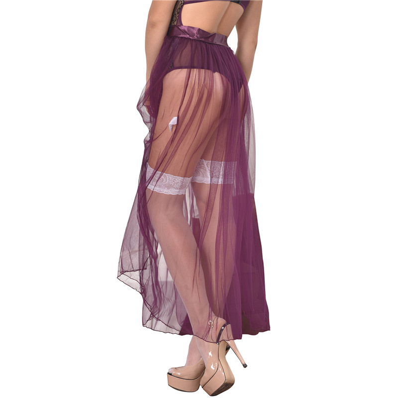 RS80272 Röcke Damen Neue Ankunft Heißer Verkauf Lila Transparenter - Damenbekleidung - Foto 3