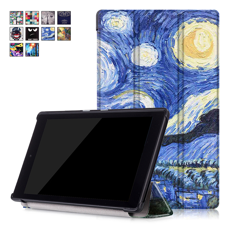 Folio Case for All New Amazon Fire HD 8 2016 6th Generation Stand Leather Cover for Fire HD 8 Tablet Case with Auto Wake/Sleep for amazon 2017 new kindle fire hd 8 armor shockproof hybrid heavy duty protective stand cover case for kindle fire hd8 2017