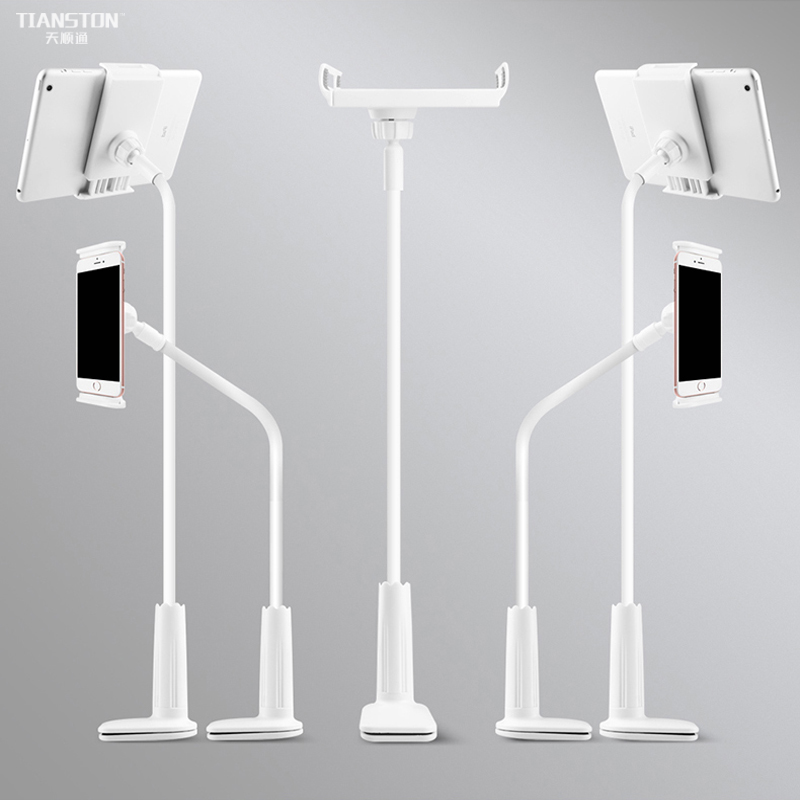 TIANSTON Universal Flexible Long Arm Phone Holder Clamp 360 bed desk Tablet Stands for iPhone xiaomi samsung iPad huawei holder