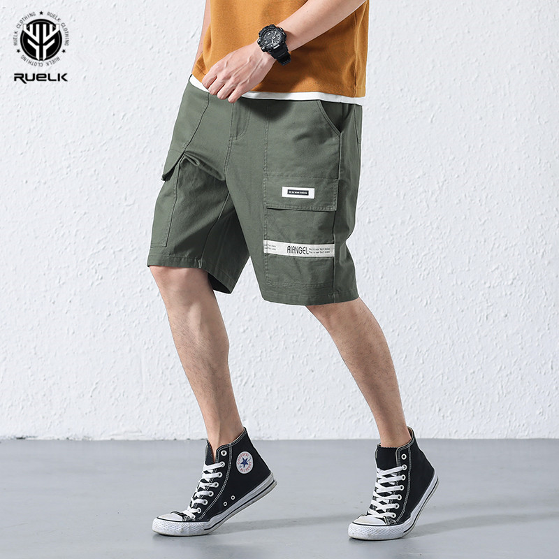 RUELK 2018 Military Camo Shorts Men Camouflage Cargo Shorts Casual Loose Cotton Man Army Short Pants Brand Clothing Short Pants
