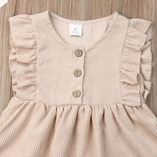 Baby Girl Dress Ruffles Sleeveless Clothes 1-6Y