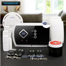 HOMSECUR Wireless GSM SMS Autodial Burglar Intruder Alarm System with Smoke Sensor