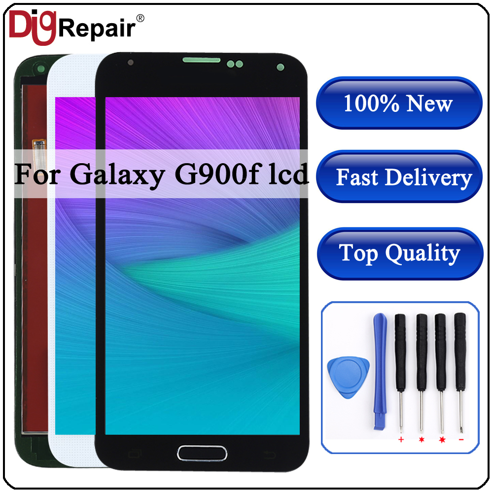 For SAMSUNG Galaxy S5 LCD G900M G900A G900T G900FD Display Touch Screen Digitizer With Home Button G900f Lcd For SAMSUNG S5 LCD