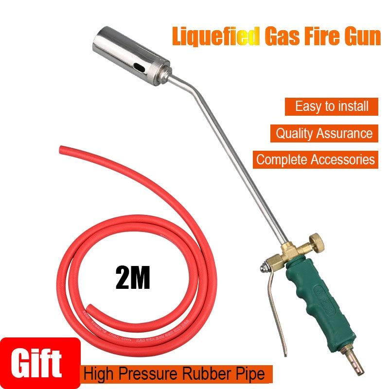 50# Liquefied  Welding Gas torch Fire Gun Torch Weed Burner Accessories Heating Propane Butane