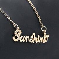Fashion Sunshine Love Statement Necklace For women Couple Vintage Steampunk Men Necklace