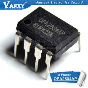 Image 2 - 5 sztuk OPA2604AP DIP8 OPA2604A DIP OPA2604 DIP 8 2604AP podwójny FET wejście, niewielkie zniekształcenia wzmacniacz operacyjny