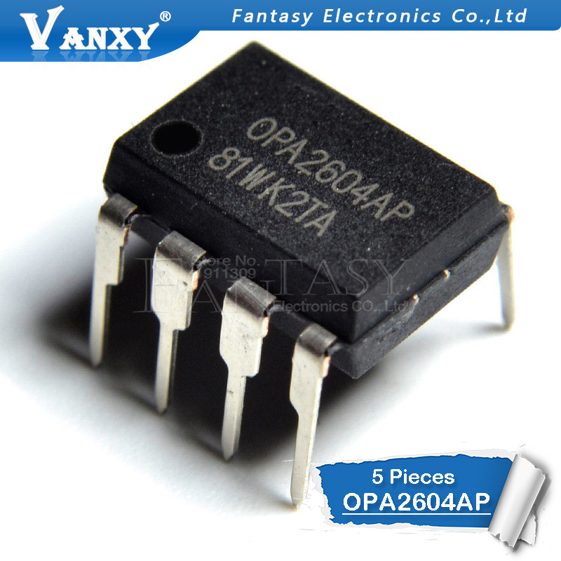 5PCS OPA2604AP DIP8  OPA2604A DIP OPA2604 DIP-8 2604AP Dual FET-Input, Low Distortion OPERATIONAL AMPLIFIER
