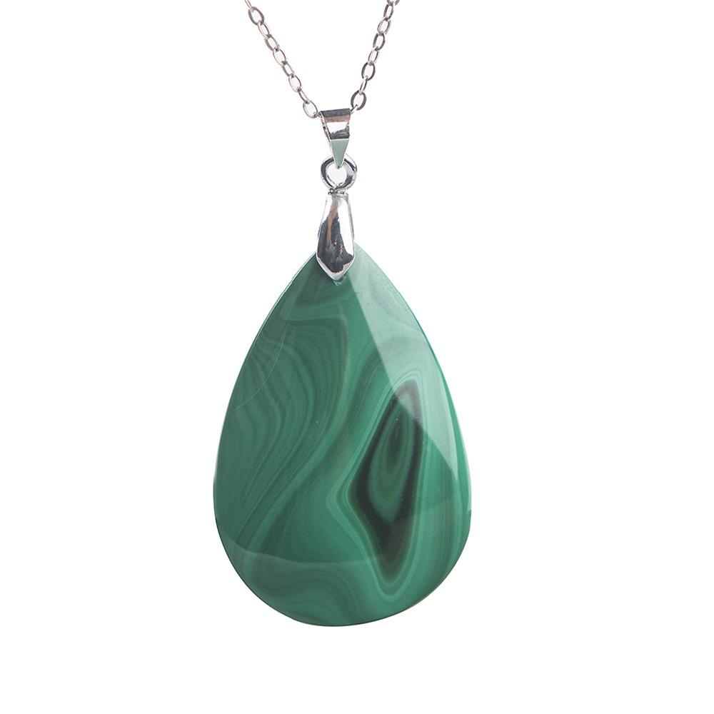 Unique Water Drop Shape Malachite Pendant Jewelry Natural Stone Gems Crystal Pendants Necklace Find Jewelry