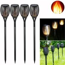 1 Pcs OR 2 Pcs 96 LED Waterproof Flickering Flame Solar Torch Light Garden Lamp Outdoor