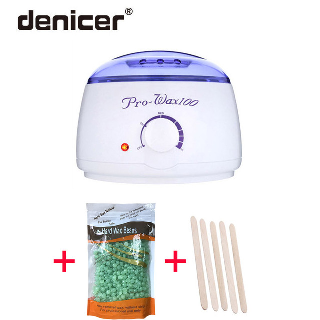 Pro wax heater machine hard beans with wooden in waxing kit depilatory a wax set ship from CN/RU cheaper for body spa depilation
