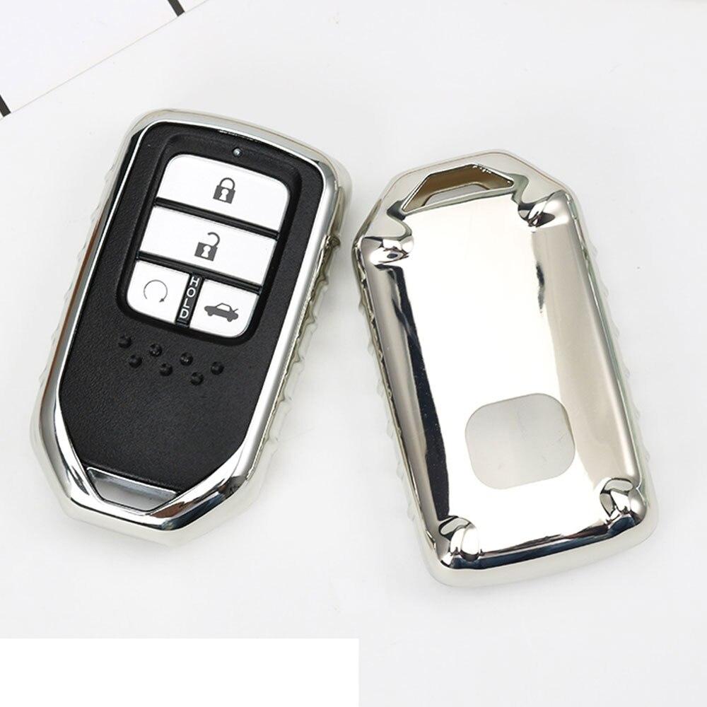 2017 TPU Car Key Cover Case suitable for Honda Fit Accord Civic CR-V CRV City Jazz Elantra IX35 Santafe Key Chain Accessories