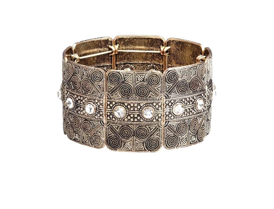 Tibetan Silver Plated Wide Cuff Bracelet