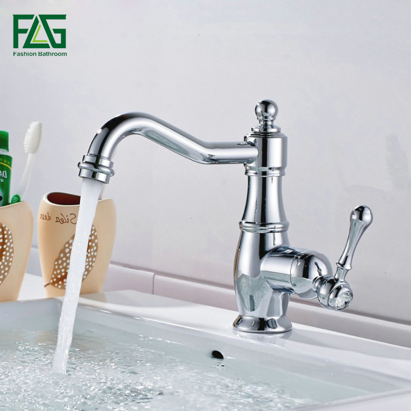FLG Free Shipping New Deck Mounted Brass Faucet Bathroom Basin Sink Mixer Tap Chrome Faucet Bath Mixer Bath Faucet Robinet M267C flg free shipping crystal