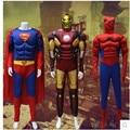 Super Hero Cosplay Costume Ant Man Iron man Spiderman Superman Captain America cosplay muscle Bodysuit  Halloween Dress CS124116
