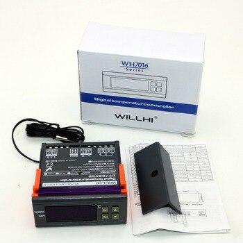WH7016D AC 220 V/110 V DC 24 V/12 V 10A הדיגיטלי LCD אלקטרוני תרמוסטט טמפרטורת בקר מתג-30 ~ 300 צלזיוס עבור תנור