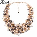 Fashion Jewelry European & American Big Temperament Popular Trendy Palace Beauty simulated pearl Necklace Statement necklace