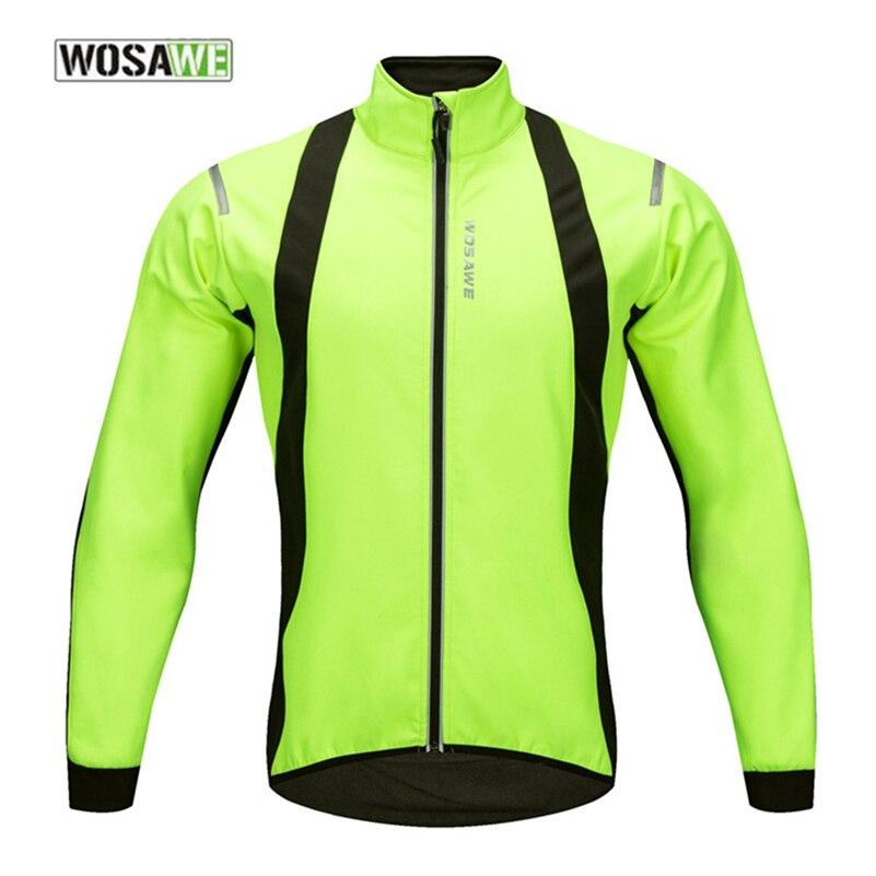 WOSAWE hiver thermique cyclisme vestes hommes vélo vélo coupe-vent imperméable réfléchissant manteau garder au chaud cyclisme vêtements vestes