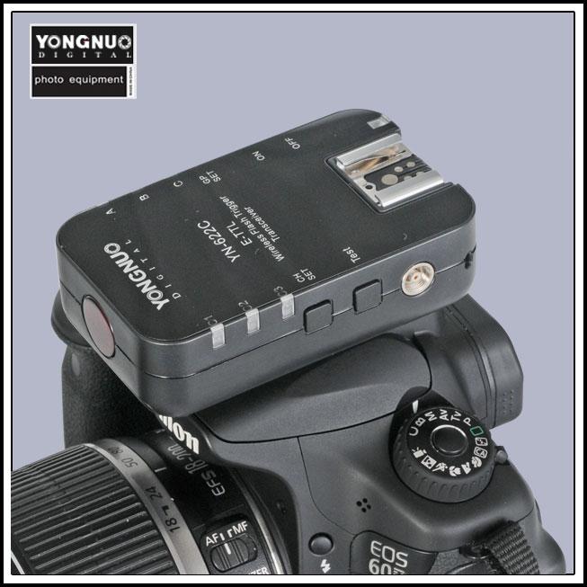 Yongnuo YN-622C RX YN 622C Single Wireless TTL Flash Trigger For Canon Camera Speedlite for Canon 1100D 1000D 650D 600D 550D 7D yongnuo yn 560 iv yn560 wireless ttl hss master radio flash speedlite 2pcs rf 605c rf605 lcd wireless trigger for canon camera