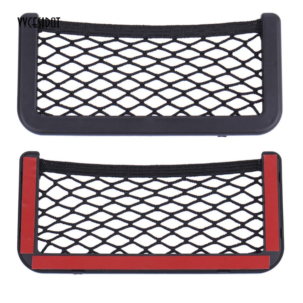 20*8CM 8*15CM Universal net car seat side storage bag pocket organizer phone holder adhesive box auto accessories pouch