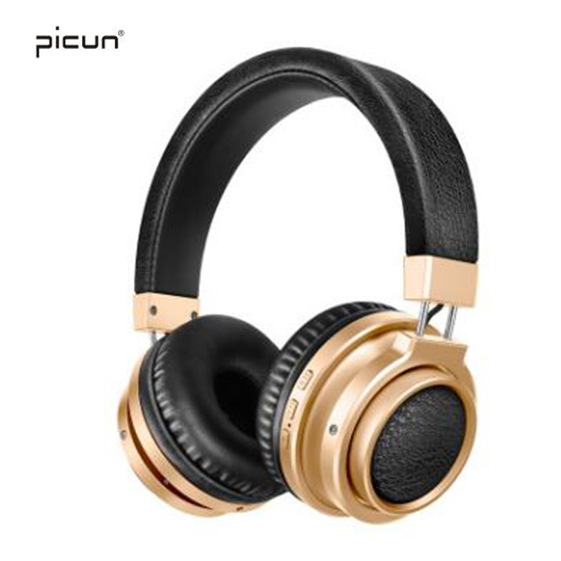 Picun P3 Wireless Bluetooth Headphones Fone De Ouvido Support TF Card HIFI Headset With Microphone For iPhone 7 8 X Samsung ttlife mini bluetooth earphone usb car charger dock wireless car headphones bluetooth headset for iphone airpod fone de ouvido