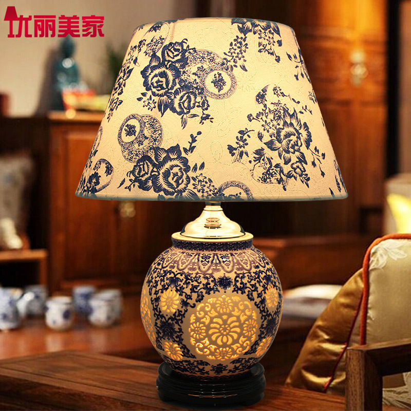 Туда Бесплатная доставка китайский Стиль настольная лампа Керамика настольная лампа Современные Творческий для изучения Гостиная декорат...