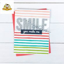SMILE Word Die Metal Cutting Dies For Scrapbooking Bunch Card Making 2018