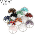 V.YA Life of Tree Pendant Necklace Collares Collier Colar Red Stone Beads Joyeria Bijoux Bohemian Femme Kolye Colares necklaces