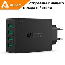 Aukey Универсальный 4 Порта USB Зарядное Устройство, путешествие Стены Зарядное устройство Для iPhone7 Samsung S6 Smart Телефонов/PC/Mp3 и USB Мобильных Устройств
