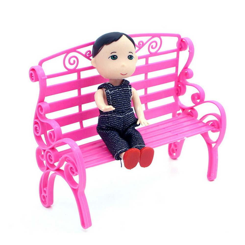 Satkago 5 PCS Doll Park Lounge Chair Sofa Furniture Accessories for Barbie doll Toys Princess Dreamhouse Garden toys for girls