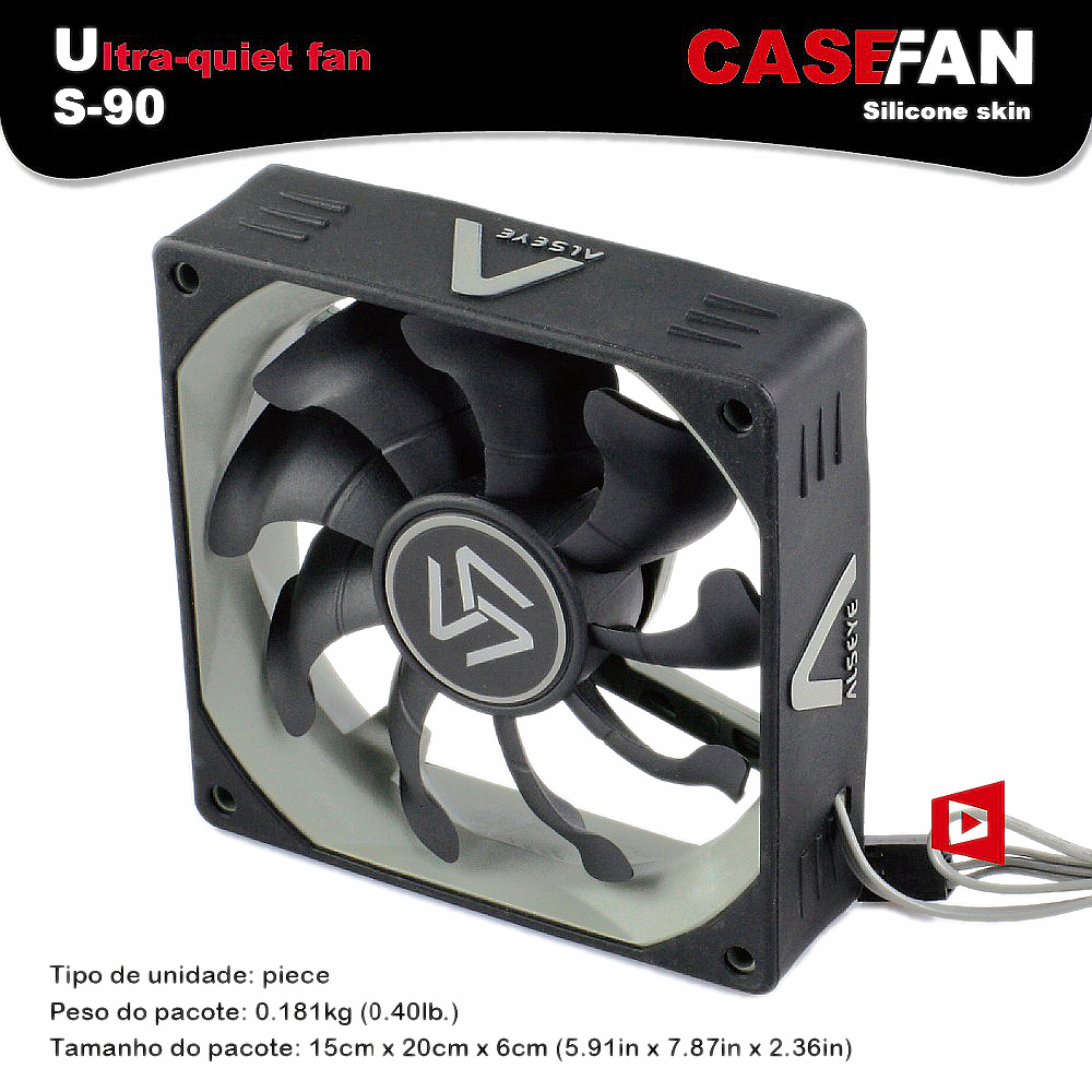Ventilator Lautlos Alseye 90mm Computer Fan Cooler Black Silent Dc 12v 3pin