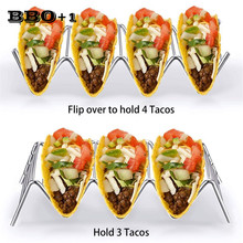 1pcs Metal Taco Holder Wave Durable Shell Mexican Food Rack Restaurant Pizza Pie Show Stainless Steel Taco Rack Kitchen Display