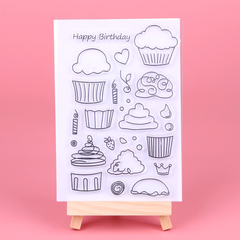 Cupcake Metal Cutting Dies And Stamps DIY Paper Craft Muffin Ice Cream Celebrate